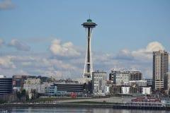 Waterfront and Skyline, Seattle, Washington Royalty Free Stock Photos