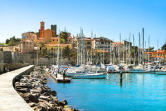 Waterfront of small town of Talamone. Grosseto region, Tuscany, Stock Photo