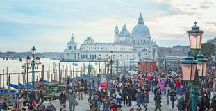 The waterfront at St. Mark`s Square in Venice, Italy Stock Photo