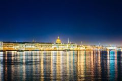 Waterfront of St. Petersburg, Russia. stock photography