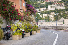 Waterfront street in Villefranche-sur-Mer Stock Image