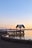 Waterfront sunset Stock Photo
