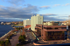 Waterfront of Sydney, Nova Scotia Stock Image