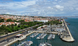 Waterfront Tagus river, Lisbon, Portugal Stock Photos