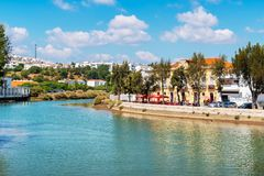Waterfront of Tavira. Algarve, Portugal Stock Image