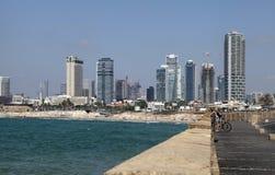 waterfront of Tel Aviv-Yafo and Mediterranean sea, Tel Aviv, Israel. royalty free stock photos