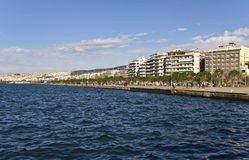 Waterfront at Thessaloniki city in Greece Royalty Free Stock Image