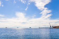 The waterfront of Thessaloniki, Greece, on a sunny day Royalty Free Stock Images