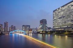 Waterfront Tokyo city at twilight Royalty Free Stock Photo