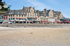 Waterfront of town Cancale in summer day, France Royalty Free Stock Photo