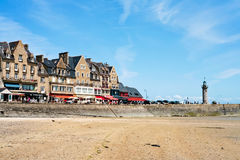 Waterfront of town Cancale in summer day, France Royalty Free Stock Photography