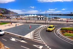 Madeira Island, Funchal Waterfront Marina Royalty Free Stock Photography
