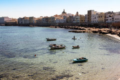 Waterfront of Trapani Royalty Free Stock Photo