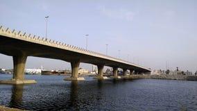 Waterfront under the bridge stock video footage
