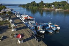 Waterfront of Valdivia in Southern Chile stock photos