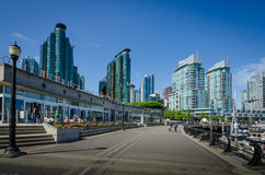 Waterfront in Vancouver, British Columbia Royalty Free Stock Photos