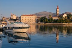 Waterfront view of beautiful Trogir Stock Image