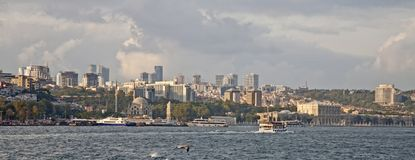 Waterfront view of Constantinople Turkey royalty free stock images