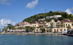 Waterfront view of Marigot, St Martin Royalty Free Stock Image