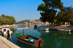 Waterfront view of Trogir in Croatia Stock Photos
