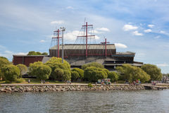 Waterfront view of Vasa museum, Stockholm stock photos