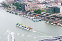 Waterfront views of the Danube in Budapest Royalty Free Stock Photography