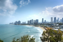 Waterfront views of Tel Aviv Royalty Free Stock Photography