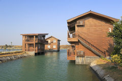 Waterfront villa Royalty Free Stock Image