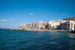 Waterfront Village Marsalforn The Island Of Gozo, Malta. Waterfront Village Marsalforn The Island Of Gozo Stock Images