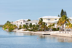 Waterfront villas in Florida Stock Photo
