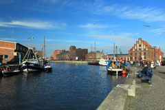 Waterfront in Wismar Royalty Free Stock Photos