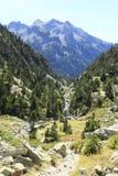 Waterfull in Bergen in Tena-vallei, de Pyreneeën Panticosa Stock Fotografie