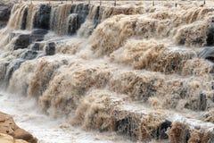 Waterfull di Hukou nel fiume Giallo Fotografia Stock Libera da Diritti