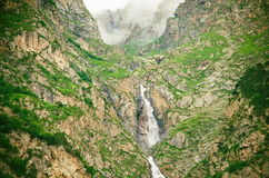 Waterfull en la Kabardino-Balkarie Photo stock