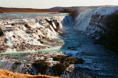 金waterfull gutlfoss 图库摄影