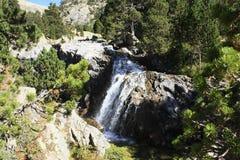 Waterfull in montagne in valle di Tena, Pirenei Panticosa Fotografia Stock Libera da Diritti