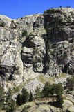 Waterfull in montagne in valle di Tena, Pirenei Panticosa Immagini Stock