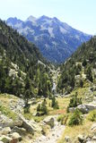 Waterfull in Mountains in Tena valley, Pyrenees. Panticosa Stock Photography