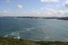 Watergate Bay at Newquay, Cornwall, England Stock Image