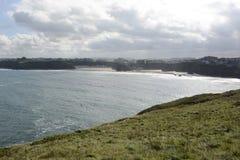 Watergate Bay at Newquay, Cornwall, England Royalty Free Stock Images