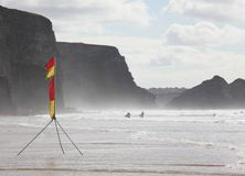 Watergate Bay Surfers Stock Photos