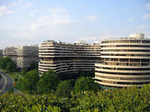 Watergate Complex. Back view of the luxury hotel and offices at the Watergate Complex in Washington, DC, USA Stock Image