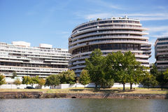 Watergate Complex, Washington DC. A section of the Watergate Complex viewed from the Potomac River royalty free stock photography