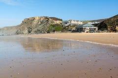 Watergate fjärd Cornwall Arkivbild