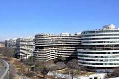 Watergate hotel. Watergate hotel with which the history of an impeachment of the president of the United States Nixon is connected Stock Photo