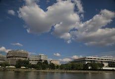 Watergate und Kennedy Center, Washington, D C lizenzfreie stockfotografie