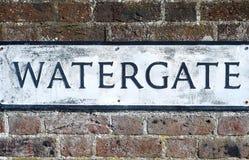 Watergate-Zeichen Lizenzfreie Stockbilder