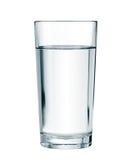 Waterglas met het knippen van weg wordt geïsoleerd die Royalty-vrije Stock Afbeeldingen