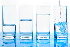 Waterglasses Stock Foto