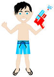 Watergun Boy Swimsuit Stock Images